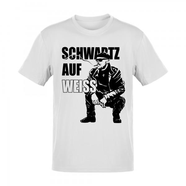 Schwartz auf Weiss T-Shirt